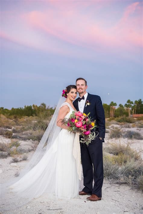 bohemian desert wedding  springs preserve  las vegas
