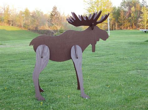 moose lawn ornament crafted lawn moose decoration by windy woods woodworking and turning custommade
