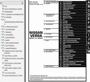 Nissan Versa Model C11 Series 2008 Service Manual Pdf