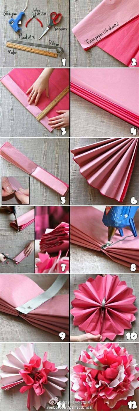 diy easy tissue paper flower diy projects usefuldiycom