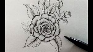 How To Draw A Rose Easy  Step By Step Realistic Pencil