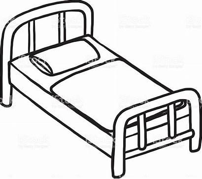 Clipart Hospital Bedroom Bed Bett Drawing Furniture