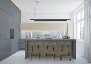 Küche Grau Holz : raumgestaltung ideen in grau 5 moderne appartements ~ Michelbontemps.com Haus und Dekorationen