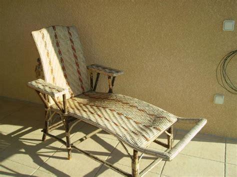 chaise longue rotin ancienne chaise longue en rotin ameublement maison nousty 64420