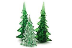 art glass christmas trees green and clear glass by tenpennygray