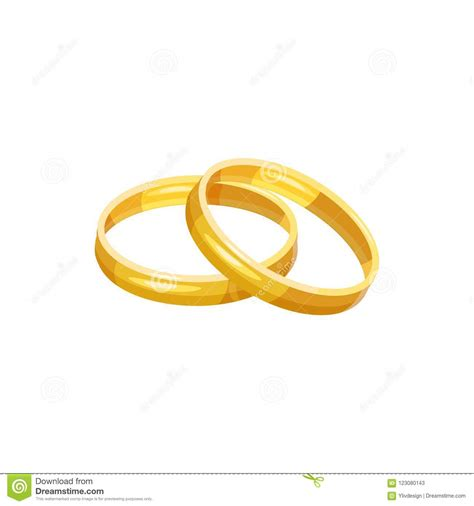 wedding rings icon cartoon style stock illustration illustration of engagement metal 123080143