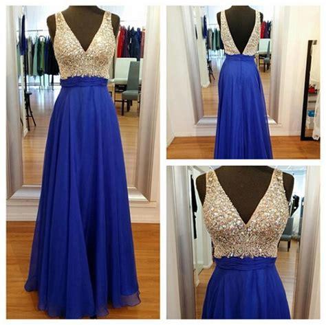 neck   shoulder royal blue prom dressesv