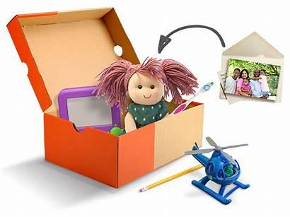 Shoebox Occ Child Packing Pack Shoe Toys