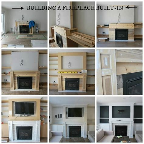 fireplace mantle how to build a beautiful fireplace built ins with shelving