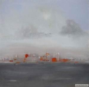 tableau peinture contemporaine paysage abstrait urbain With couleur gris bleu peinture 4 tableau peinture contemporaine paysage minimaliste
