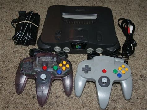 nintendo n64 console nintendo 64 n64 console complete 2 controllers