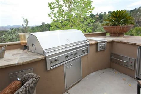 outdoor kitchen stucco finish stucco outdoor kitchen landscaping network
