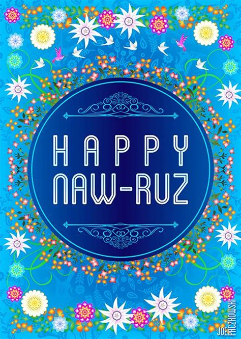 happy naw ruz nowruz card  year greeting cards