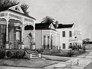 Historic Louisiana Homes In Black And White Painting by ...