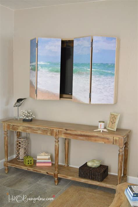 tv wall cabinet diy wall mounted tv cabinet with free plans h20bungalow