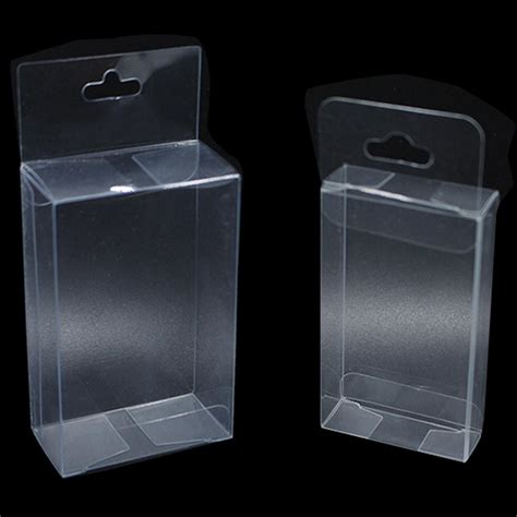 pvc clear plastic packaging boxes  hang hole small