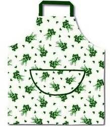 Kitchen Aprons Ireland by Green Shamrocks On White Apron Luck From Ireland