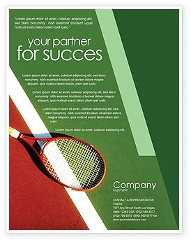 Sports C Brochure Template by Tennis Rackets Flyer Template Background In Microsoft