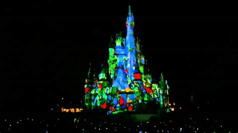disney world s magic kingdom castle light show
