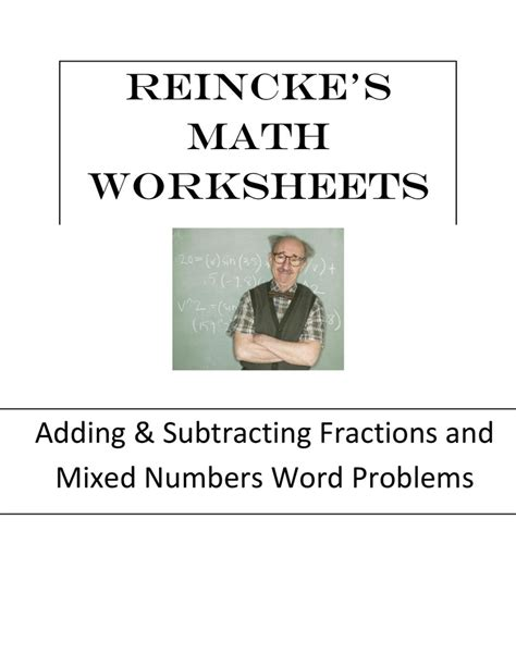 adding subtracting fractions mixed numbers word problems