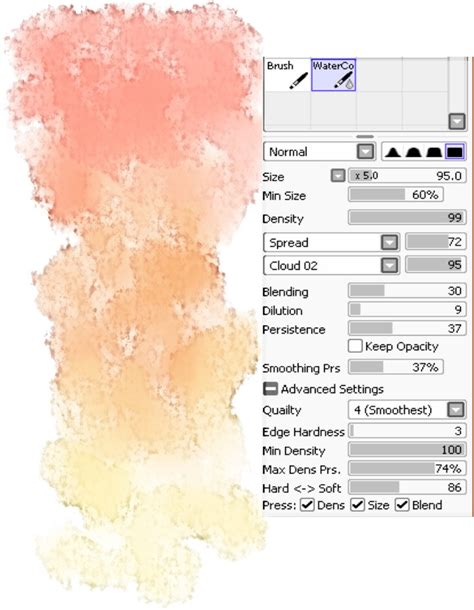 brushes easy paint tool sai melonenbrot