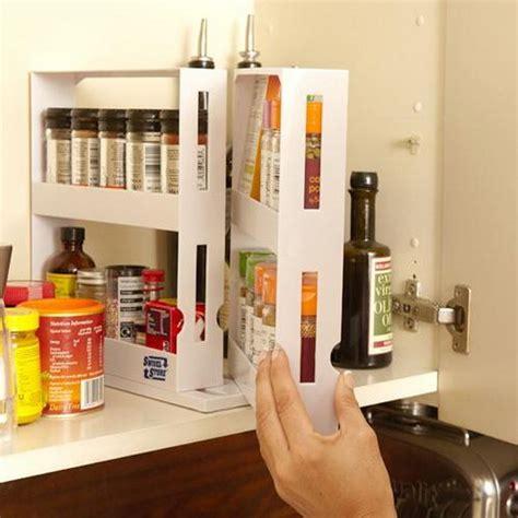 Kitchen Cabinet Spice Rack Slide by 2 Tier Spice Rack Cabinet Holder Shelf Kitchen Organizer