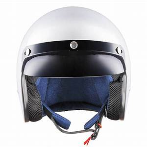Vintage Retro 3/4 Open Face Motorcycle Helmet DOT Scooter ...