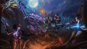 Overwatch Team Fight By Itzaspace On DeviantArt