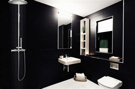 Bad Schwarze Fliesen by Luxus Badezimmer In Schwarz Der Neue Trend