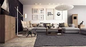 deco salon gris avec canape tout confort 55 idees pour vous With tapis design avec canapé lodge