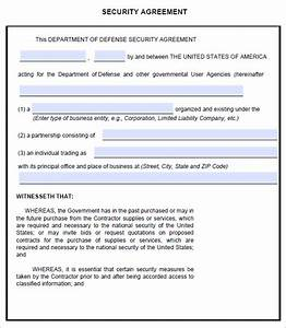 security agreement 7 free pdf doc downlaod sample With security contracts templates