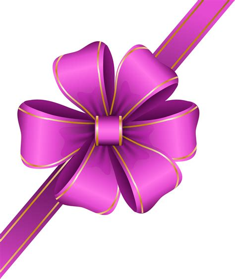 decorative pink bow corner transparent png clip art image