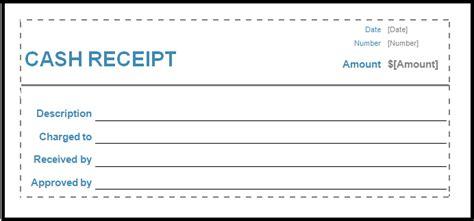 cash receipt template printable receipt template
