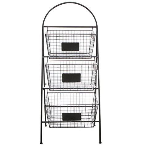three tier floor l 3 tier modern black metal wire mesh basket floor rack
