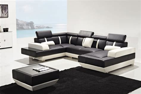 black and white sectional sofa black and white leather sofas radiovannescom russcarnahan