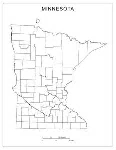 Blank Minnesota Map with Counties