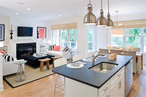 simple open plan kitchen living ideas small open kitchen living room designs simple home