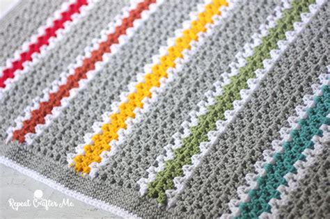 how to crochet av stitch crochet v stitch rainbow blanket repeat crafter me