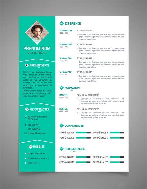 Word Modele by Mod 232 Le Cv Deux Colonnes Ataboxe