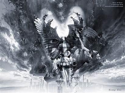 Demons Angels Kiss Grie George Eros Surreal