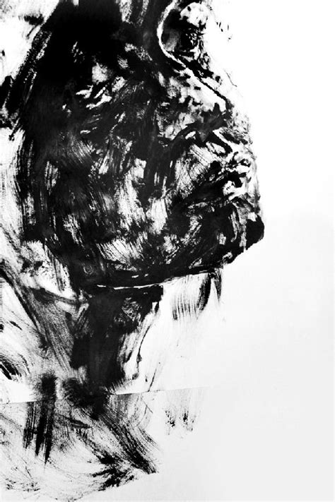 Abstract Black And White Portrait by Interesting Black And White Or Colorful Paintings By