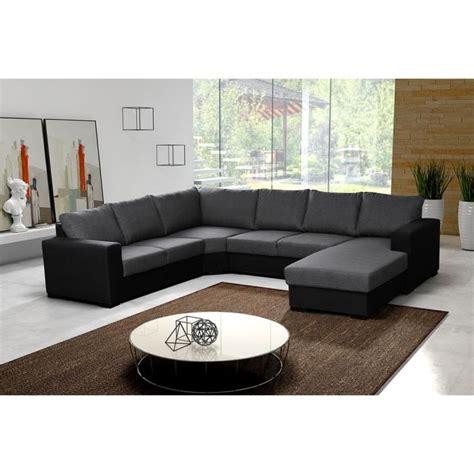 canapé panoramique tissu canapé d 39 angle 6 places oara panoramique pas cher gris