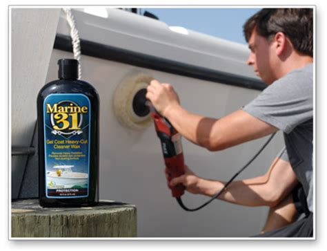 Best Boat Oxidation Cleaner by Marine 31 Gel Coat Heavy Cut Cleaner Wax Best Boat