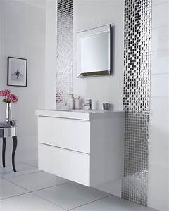 Silver bathroom mirror large white tile bathroom white for Kitchen cabinet trends 2018 combined with nappe en papier