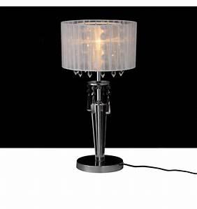 Lampe A Poser : lampe poser cristal chrome ~ Nature-et-papiers.com Idées de Décoration