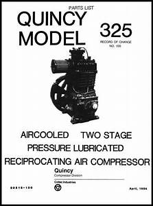 Quincy Model 325 Air Compressor Parts Manual