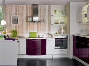 Cuisine avec meubles galbes cuisine plus cuisine for Idee deco cuisine avec cuisine rustique