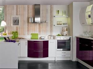 cuisine avec meubles galbes cuisine plus cuisine With idee deco cuisine avec modele devis cuisine