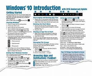 Windows 10 Anniversary Update Cheat Sheet  Quick Reference