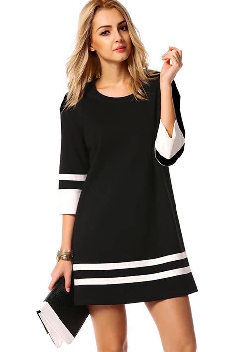 Black Casual Dress - Oasis amor Fashion
